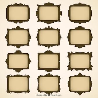 Set de marcos en formato .ai