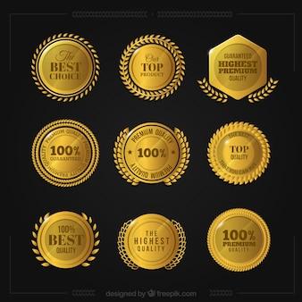 Set de medallas doradas