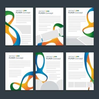 Set de modelos de folletos abstractos