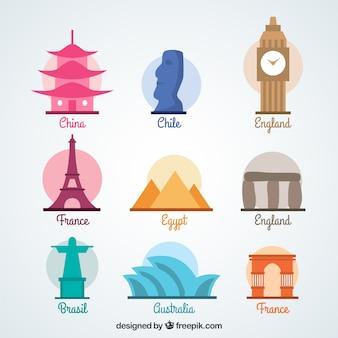 Set de monumentos del mundo