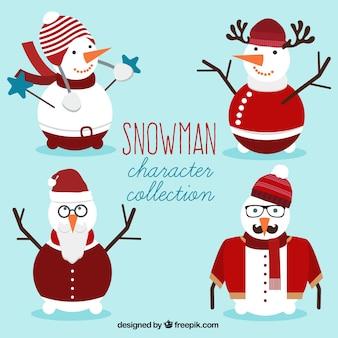 Set de muñecos de nieve con ropa