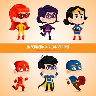 Set de niños superhéroes