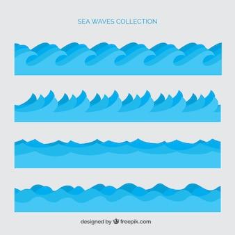 Set de olas del mar