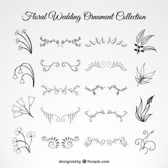 Set de ornamentos florales de boda