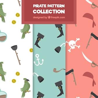 Set de patrones decorativos de piratas