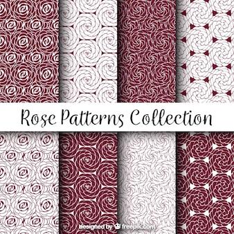 Set de patrones geométricos de rosas