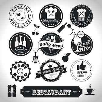 Set de pegatinas de restaurante