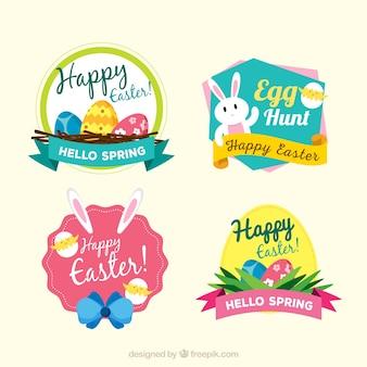 Set de pegatinas decorativas del día de pascua