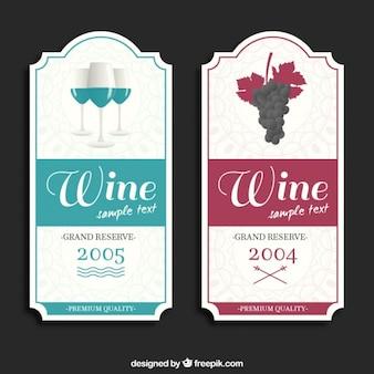 Set de pegatinas elegantes de vino