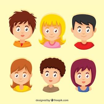 Set de personajes adolescentes