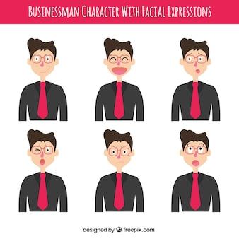 Set de personajes de hombre de negocios