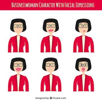 Set de personajes de mujer de negocios