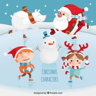 Set de personajes de navidad
