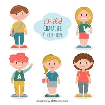 Set de personajes de niños formales