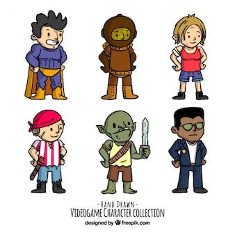 Set de personajes de vídeo juegos