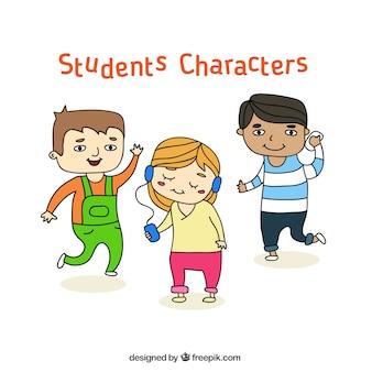 Set de personajes estudiantes