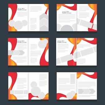 Set de plantillas de folletos de formas abstractas