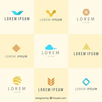 Set de plantillas de logos