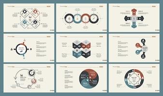 Set de plantillas de seis estrategias de diapositivas