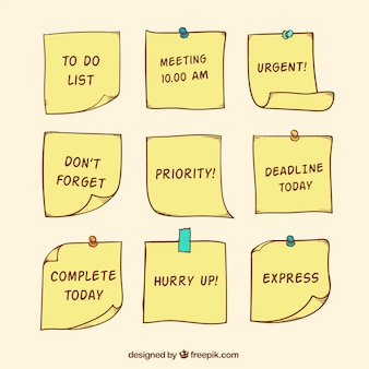 Set de post-it con mensajes