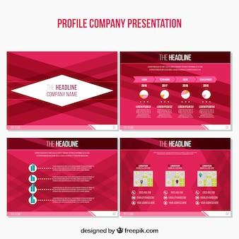 Set de presentaciones abstractas de negocios