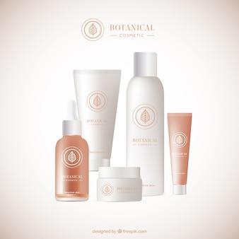 Set de productos ecológicos realistas