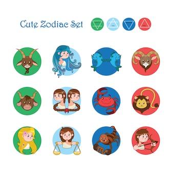 Set de signos del zodiaco