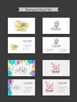 Set de tarjetas de presentación creativas