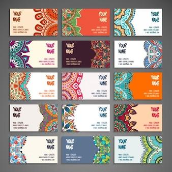 Set de tarjetas ornamentales en estilo boho