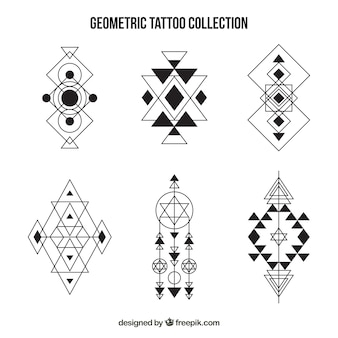 Set de tatuajes de formas geométricos