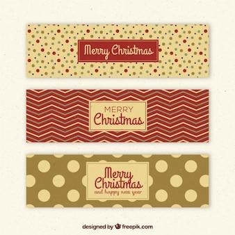 Set de tres banners de navidad