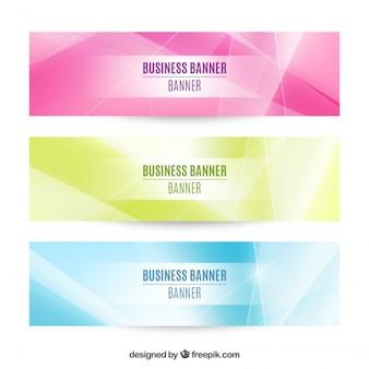 Set de tres banners de negocios abstractos