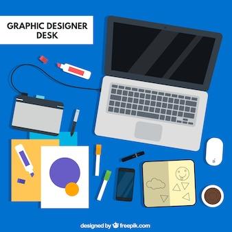 Set de utensilios de diseñadores gráficos