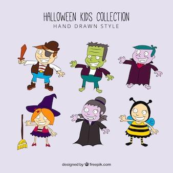 Set de varios disfraces de halloween