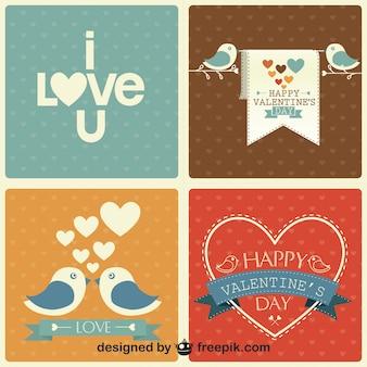 Set del día de San Valentín retro