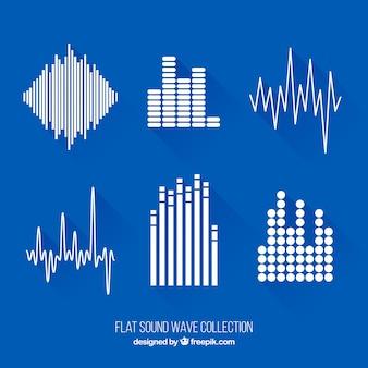 Set plano de ondas de sonido