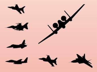 Silueta avión de guerra