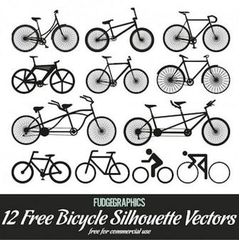 Silueta creativo estilo vector de la bicicleta