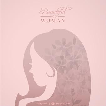 Silueta de mujer bella