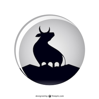 Silueta toro negro