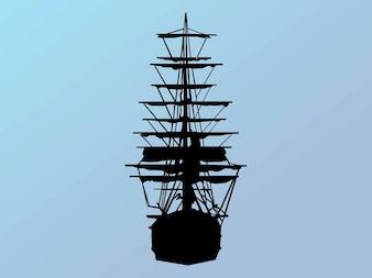 Silueta vela barco