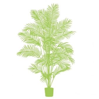 Silueta verde, planta de apartamento