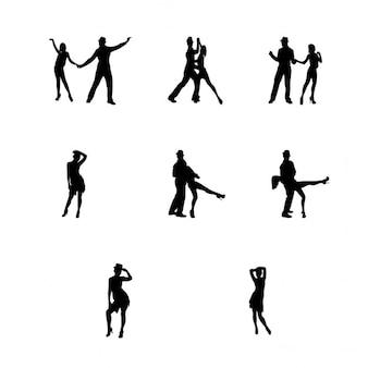 Siluetas de baile