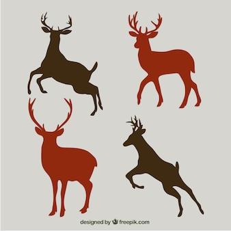 siluetas de ciervo