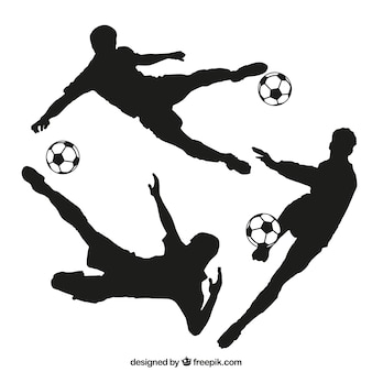Siluetas de futbolista