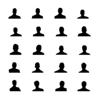Siluetas del avatar