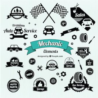 Símbolos de coches de época