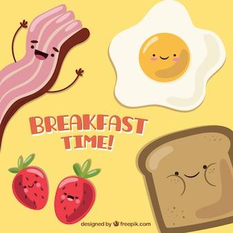 Simpática comida de desayuno