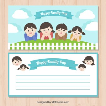 Simpática felicitación del día de la familia