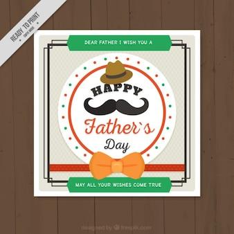 Simpática tarjeta del día del padre con elementos